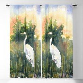 White Heron Blackout Curtain