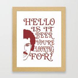 hello  - I love beer Framed Art Print