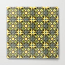Abstract flower pattern 3c Metal Print