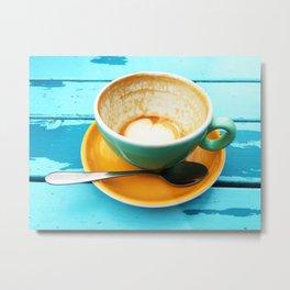 Latte coffee cup dregs Metal Print