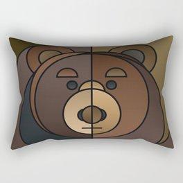 ANIminiMAL - Animal Minimal Bear Art Print Rectangular Pillow
