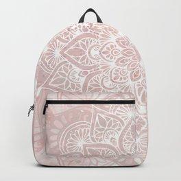 Mandala Yoga Love, Blush Pink Floral Backpack