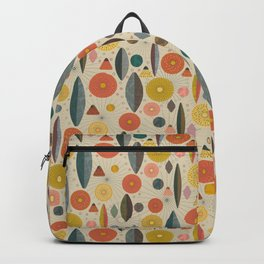 Mid Century Modern Eucalyptus with Retro Vibes Backpack
