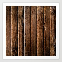 Farmhouse Wood Slats Wood Design Art Print