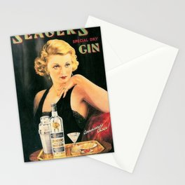 Seagers Special Dry Gin Alcoholic Cocktails Vintage Advertisement Poster Stationery Cards