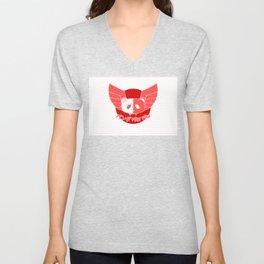 Panda Paw Paw Japan Flag Design Unisex V-Neck