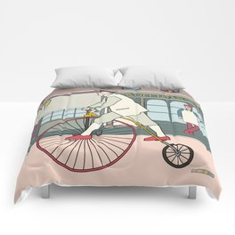 Steampunk Penny-Farthing Velocipedes Comforters