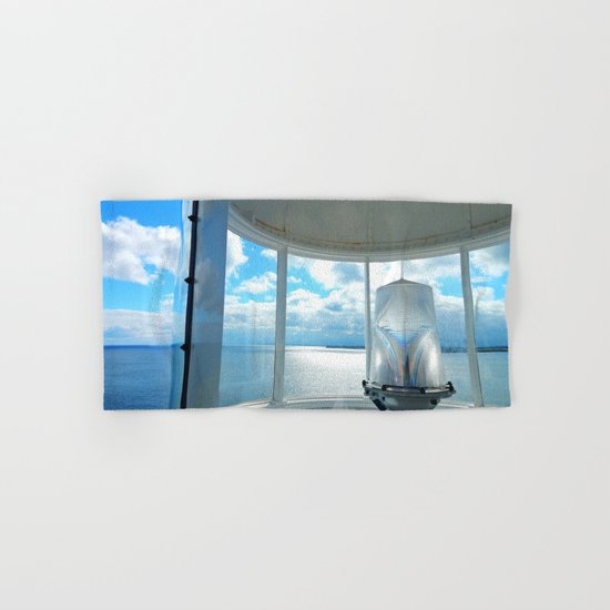 Souris Lighthouse View from the Top Hand & Bath Towel
