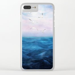 Watercolor Sea 5 Clear iPhone Case