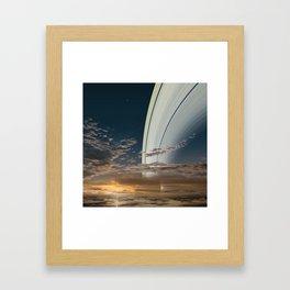 The Rings of Saturn Framed Art Print