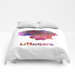 Lithuania in watercolor Comforters