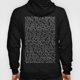 Banned Literature Internationally Print on Black Hoody