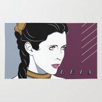 princess leia Area & Throw Rugs featuring 80s Princess Leia Slave Girl by Patrick Scullin