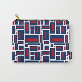 Modern Geometric in Red, White and Blue Carry-All Pouch