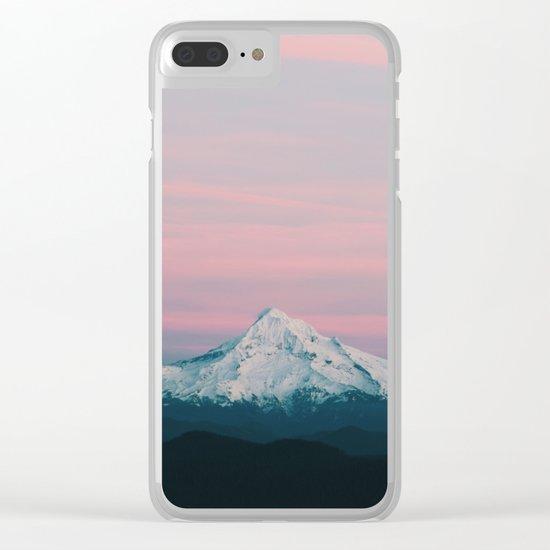Mount Hood III Clear iPhone Case