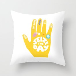 Seize the day – Sunshine hand Throw Pillow