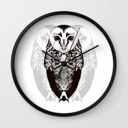 Owl By Myself Wall Clock