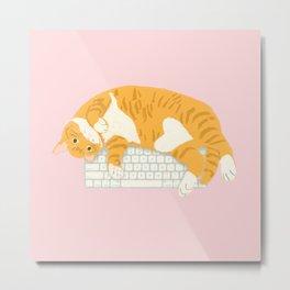KEYBOARD CAT Metal Print