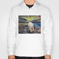 northern lights Hoodies featuring Northern Lights by Michael Creese