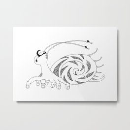 Ten-fingered snail Metal Print