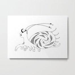 Ten-fingered snail Metal Print
