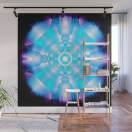 Time Space Crystal Abstract Wall Mural
