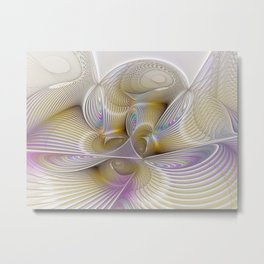 Place of Fantasy, Abstract Fractal Art Metal Print