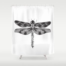Lace dragonfly Shower Curtain