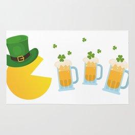 St. Patrick's Day Shamrocks Beer Funny Rug