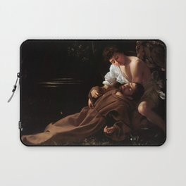 Saint Francis of Assisi in Ecstasy by Caravaggio (1595) Laptop Sleeve