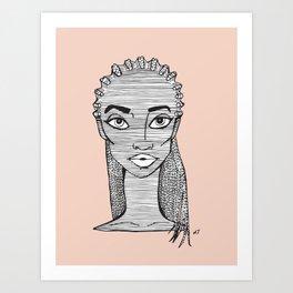 Biracial Art Print