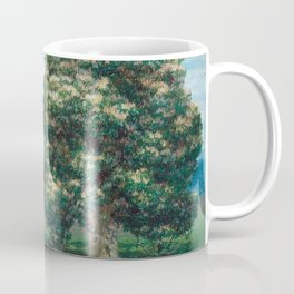 Flowering Chestnut Trees by the Sea landscape painting by Emilie Mediz Pelikan Coffee Mug