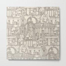 Ancient Greece natural Metal Print