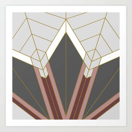 ART DECO G1 (abstract) Art Print
