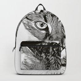 savannah cat portrait vabw Backpack