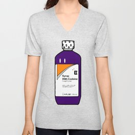 Codeine Bottle Cartoon Unisex V-Neck