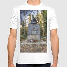 Karl Marx Memorial White MEDIUM Mens Fitted Tee