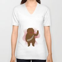 chewbacca V-neck T-shirts featuring chewbacca by Lalu