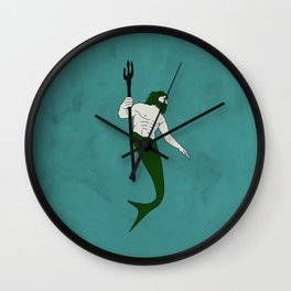Merman Banner Wall Clock