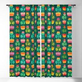 Geo Flower Pots (pattern) Blackout Curtain