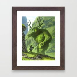 dude is this yours, I think you've dropped it back over there Framed Art Print