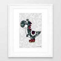 yoshi Framed Art Prints featuring Yoshi  by Adel