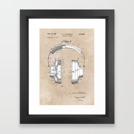 patent art Falkenberg Headphone assembly 1966 Framed Art Print