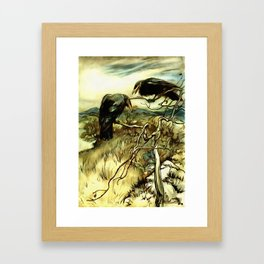 The Two Crows Framed Art Print
