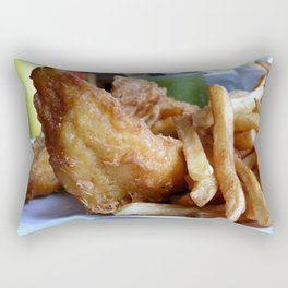 fish & chips Rectangular Pillow