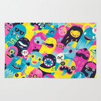 monsters inc Area & Throw Rugs featuring Monsters by Lienke Raben