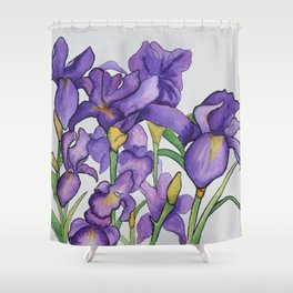 Pretty Purple Petals Shower Curtain