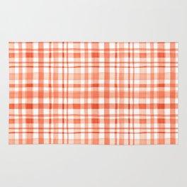 Orange watercolor plaid Rug