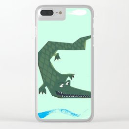 Snappy vintage Crocodile Clear iPhone Case