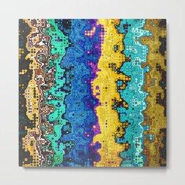 Macro Molecules of Color Metal Print